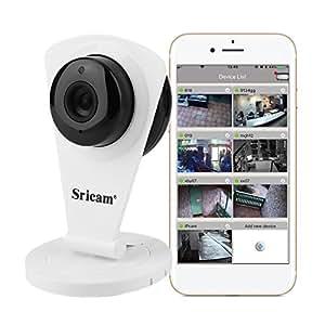 ip kamera hd sricam 720p mit app f r android und ios drahtlose berwachungskamera mit. Black Bedroom Furniture Sets. Home Design Ideas