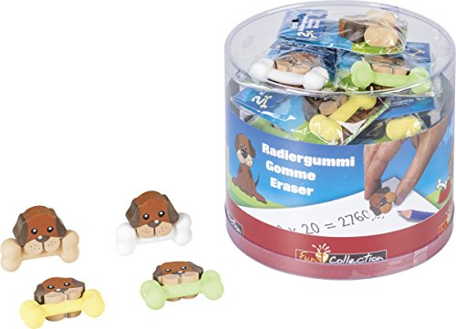 Baier & Schneider Radierer Hund Fun Collection, Gummi, 50 x 8 x 25 mm