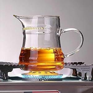 ARVIN87LYLY 275ml a mano teiera bollitore in vetro fiore teiera caffè succo tè freddo caraffa per acqua calda, fredda dritto fuoco resistente al calore temperatura