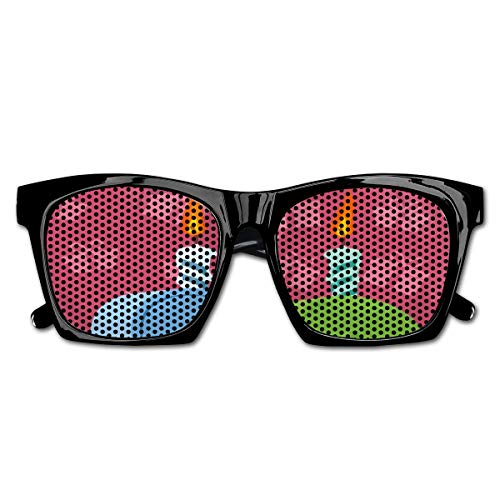 EELKKO Mesh Sunglasses Sports Polarized, Birthday Party Theme Lettering On Pink Backdrop,Fun Props Party Favors Gift Unisex