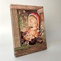 Virgen provenzal 30x40cm. Ilustración de Juan Ferrándiz impresa en lienzo. Serie limitada y numerada