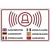 """'Cartello """"Allarme con fusibile in più lingue in PVC Schiuma Rigida Piastra 300X 200mm–3mm di spessore"""