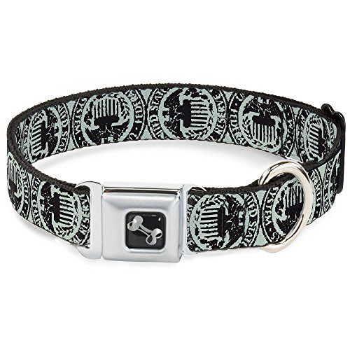 buckle-down-americana-federal-reserve-seal-weathered-gray-black-dog-collar-bone-wide-medium-16-23