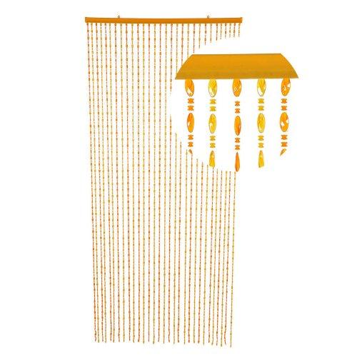 HAB & GUT -DV0386- Türvorhang Form: TWISTER, Farbe: HONEY, Material: Kunststoff, Größe: 90 x 200 cm