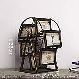 zzzddd Scultura da Tavolo,Vintage Creativo Ruota Panoramica Ferris Photo Frame Home Decor Figurines TV Mobile Imposta Il Mulino A Vento di Creative Photo Decorazioni Ornamenti Personalizzati Art Gift