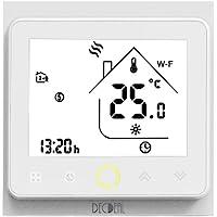 Decdeal Termostato WiFi per Caldaia a Gas/Acqua - Thermostat Intellight Programmabile, Supporto App/Controllo Vocale…