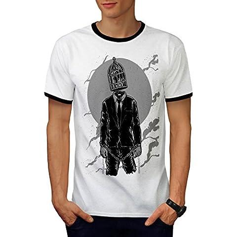 Panda Mit Headset Tier Musik Kopf Herren M Ringer T-shirt   Wellcoda