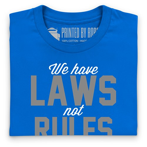 Laws Not Rules T-Shirt, Damen Royalblau