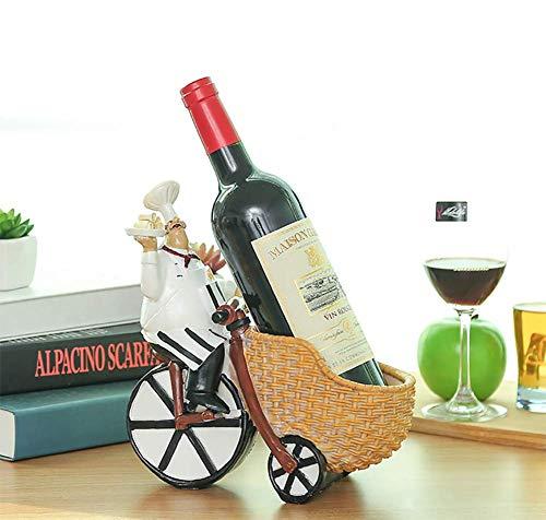 JUSTINZZ 1 Flaschen Weinregal Ständer - Freistehender Weinflaschenhalter - Zeitgenössisches Einzigartiges Design Keine Montage Erforderlich.