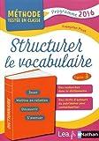 Structurer le vocabulaire - CM1/CM2
