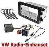 Watermark Vertriebs GmbH & Co. KG 2DIN Radioblende + Can-Bus + Werkzeug für VW Golf 5 6 Passat B6 B7 Polo 6R EOS Jetta Touran