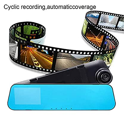 Roblue-Dashcam-Autokamera-1080P-Rckspiegel-Monitor-mit-Rckfahrkamera-Dual-Lens-40