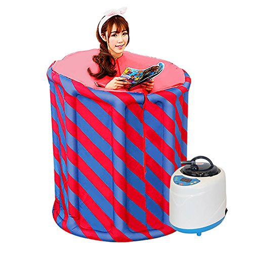 Z&HX-Portable Folding Sauna, Indoor Infrarot Sauna, Personal Spa Sauna, Sauna Anzug Gewichtsverlust für Frauen , blue