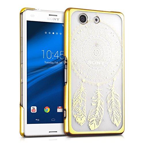 kwmobile Crystal Case Hülle für Sony Xperia Z3 Compact mit Traumfänger Design - transparente Schutzhülle Cover klar in Gold Transparent