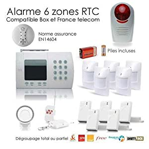 Alarme maison de 6 Zones XXL SECURITE BOX