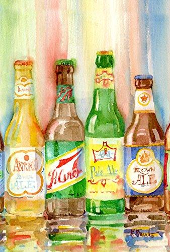 Toland Home Garden Craft Brews Bierflasche, 31,8 x 45,7 cm, dekorativ, bunt, IPA, Pilsner Ale Garten Flagge - Arbor Lager