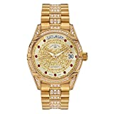 André Belfort Clock Dial Analogue Display Stainless Steel Strap and Dial Gold 4250245633174