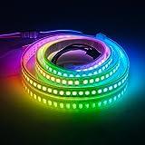 BTF-LIGHTING RGBW RGBWW Warm White SK6812 (Similar WS2812B) 3.3ft 1m 144leds/pixels/m Individually Addressable Flexible 4 Color In 1 LED Dream Color LED Strip Waterproof IP67 DC5V