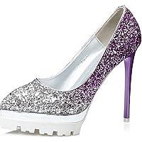 GS~LY Da donna-Tacchi-Formale-Tacchi / A punta / Chiusa-A stiletto-Lustrini-Blu / Viola / Rosso / Dorato , purple-us8 / eu39 / uk6 / cn39 , purple-us8 / eu39 / uk6 / cn39