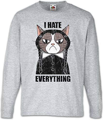 I Hate Everything Cat Kinder Kids Mädchen Jungen Langarm T-Shirt