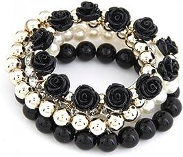 Crunchy Fashion Roses Bracelet for Women