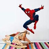 Effet 3D Hero Spiderman Stickers Muraux Pour Enfants Chambres Nursery Home Decor Cartoon Décoratif Stickers Muraux Pvc Affiche Diy Murale Art B