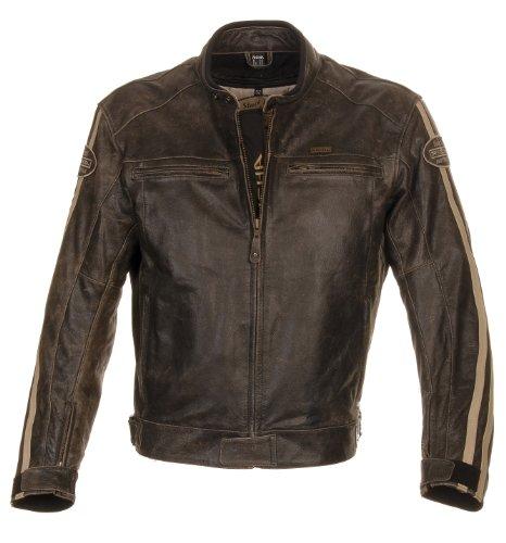 Richa Rétro Racing Moto da uomo in pelle giacca Nuova Da Uomo marrone Brown 38 (E48)