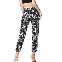 Pantalones de yoga de bolsillo de cintura alta. Ej Pantalones de yoga Pantalones de chándal de impresión Geometría de costura Alta elasticidad Apretado Ropa de fitness Adecuado para mujeres
