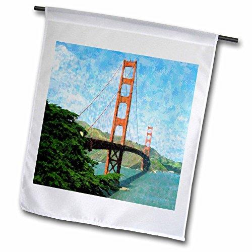 Foto-impressionismus (3drose FL _ 44894_ 1Golden Gate Bridge Impressionismus Garten Flagge, 12von 18)