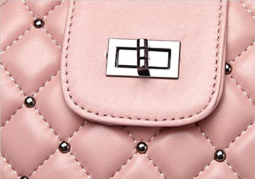 Spalla Ms. Pacchetto Diagonale Lingge Pacchetto Catena Pecora,Pink pink