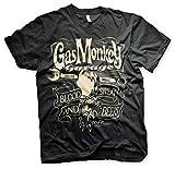 Gas Monkey Garage Round Seal Kapuzenpulli schwarz XL