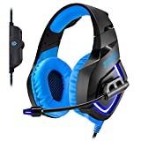 Empire Gaming H1100 - Cuffia Gamer Multipiattaforma Audio stereo altadefinizione, micro-flessibile e auricolari con retroilluminazioneLED Blu. USB compatibile PC e console PS4 / XBOX ONE*