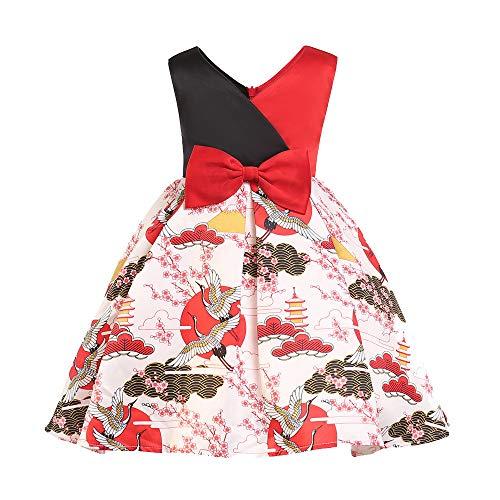 5016f5ce1 Niña Vestido POLP Vestido niñas Rojos 7 años Fiesta Elegantes Flores Boda.