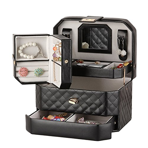 large-jewellery-sets-box-necklace-ring-organiser-cabinet-armoire-travel-case-black