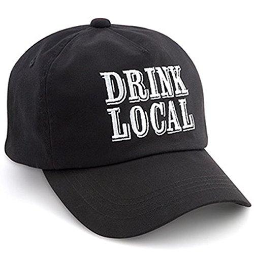 Epic 00-278, schwarzen Drink lokale Cap mit verstellbarem Klettverschluss auf der Rückseite -