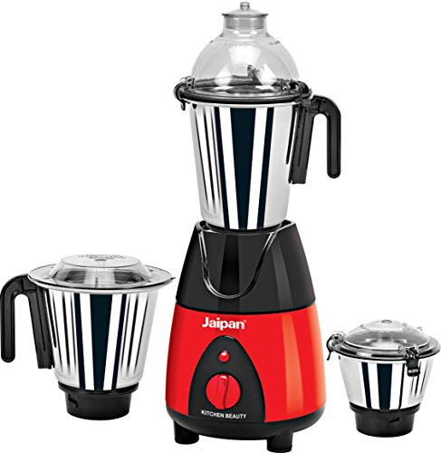 Jaipan JKB-4001 750 W Kitchen Beauty Mixer Grinder (Red & Black)