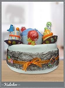 Cadeau de Naissance - Cup Cake Boy - Gâteau de Couches