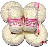 #2: Vardhman Acrylic Knitting Wool, Pack of 6 (Cream)
