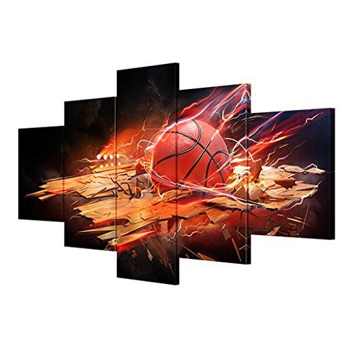 Sport Dekorative Malerei, Wandbilder, Leinwanddruck - Foto-5 Stück + Rahmen, Leinwand Bild Von Wohnzimmer, Leinwand Wandkunst, 108x50 cm Dekorative Gemälde ( größe : 20x30cmx2 20x40cmx2 20x50cmx1 ) (Sport-foto-rahmen)