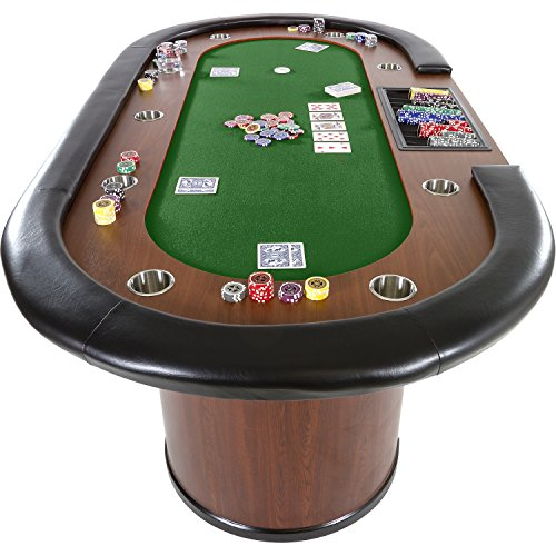 Maxstore Pokertisch ROYAL Flush, 213 x 106 x75 cm, Farbwahl, Gewicht 58kg, 9 Getränkehalter, gepolsterte Armauflage - 7