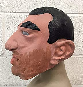 The Rubber Plantation TM 619219291996 Looking for Eric Cantona Mask Fancy Dress Disfraz de Halloween Latex Full Head Football Match, Unisex Adulto, Talla Única