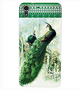 ColourCraft Beautiful Peacocks Design Back Case Cover for HTC DESIRE 626G+