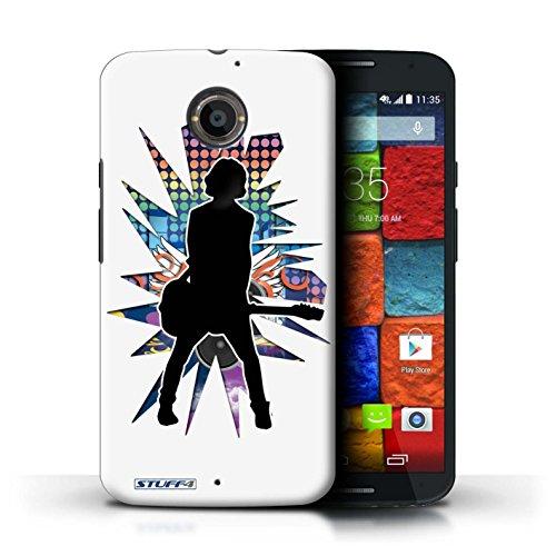 Kobalt® Imprimé Etui / Coque pour Motorola Moto X (2014) / Atteindre Blanc conception / Série Rock Star Pose émotion Blanc