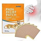 newstarts 8pcs/Bag de pegatinas de dolor Frozen hombro columna vertebral cervical Care pegar pegatinas de yeso relieve Reumatismo alivio de dolores Dolores cuidados de salud Medical Plaster Body Tiger