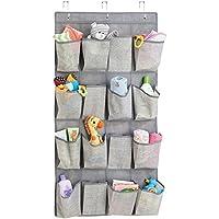 mDesign hängender Stoffschrank – praktischer Hänge-Organizer aus Stoff – das perfekte Hängeregal für Babyartikel – Hängeaufbewahrung – 16 Fächer – Farbe: taupe/natur