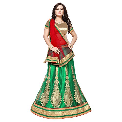 Women'S Sea Green Color Embroidered Lehenga By Manvaa Brand