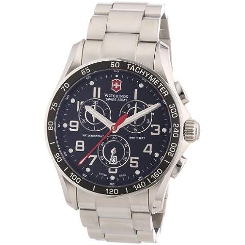Victorinox Classic 241443 - Reloj analógico de cuarzo para hombre, correa de acero inoxidable color