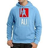 """Sweatshirt à capuche manches longues """"Boxe - dans le style de combat"""" Pour la formation, les sports, l'exercice, la course, les vêtements de fitness (XX-Large Bleu Multicolore)..."""