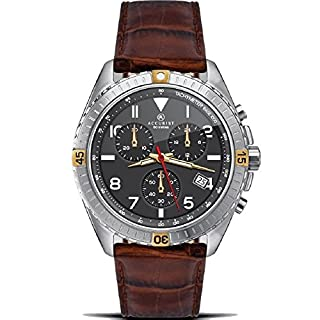 Accurist Chronograph Black Dial Brown Leather Strap Gents Watch 7142 - Exclusive Special Edition