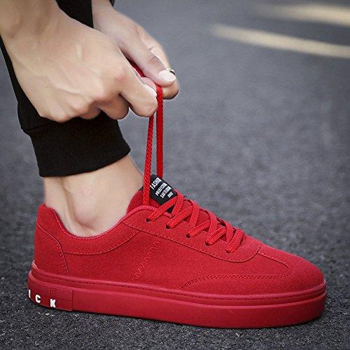 Feifei Chaussures Homme Pour Le Printemps Et La Plaque 3 Couleurs Chaussures De Loisirs De La Mode Automne (taille Multiple) (couleur: Blanc, Taille: Eu39 / Uk6 / Cn39) Rouge